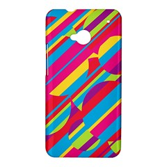 Colorful summer pattern HTC One M7 Hardshell Case