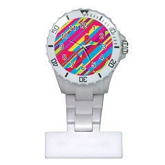Colorful summer pattern Plastic Nurses Watch
