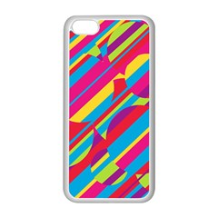 Colorful summer pattern Apple iPhone 5C Seamless Case (White)