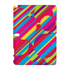 Colorful summer pattern Samsung Galaxy Note 10.1 (P600) Hardshell Case