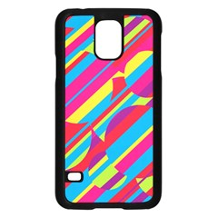 Colorful summer pattern Samsung Galaxy S5 Case (Black)
