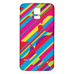 Colorful summer pattern Samsung Galaxy S5 Back Case (White)
