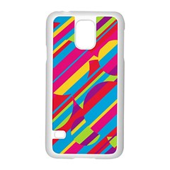 Colorful summer pattern Samsung Galaxy S5 Case (White)