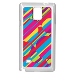 Colorful summer pattern Samsung Galaxy Note 4 Case (White)