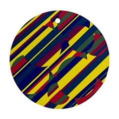 Colorful pattern Ornament (Round)