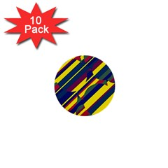 Colorful pattern 1  Mini Buttons (10 pack)