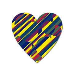 Colorful pattern Heart Magnet