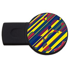 Colorful pattern USB Flash Drive Round (2 GB)