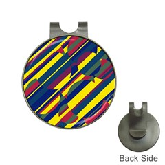 Colorful pattern Hat Clips with Golf Markers