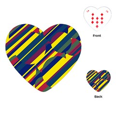 Colorful pattern Playing Cards (Heart)