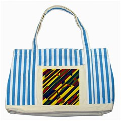 Colorful pattern Striped Blue Tote Bag