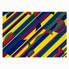Colorful pattern Large Glasses Cloth (2-Side)