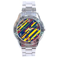 Colorful pattern Stainless Steel Analogue Watch