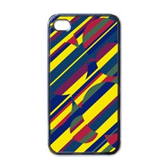 Colorful pattern Apple iPhone 4 Case (Black)