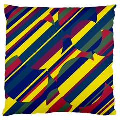 Colorful pattern Large Cushion Case (Two Sides)
