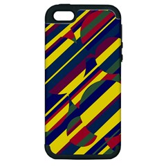 Colorful pattern Apple iPhone 5 Hardshell Case (PC+Silicone)