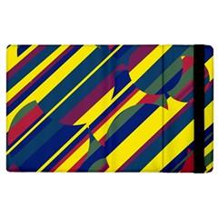 Colorful pattern Apple iPad 3/4 Flip Case