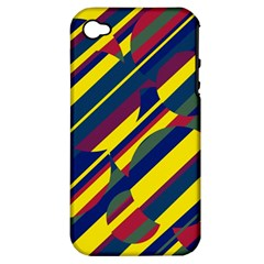 Colorful pattern Apple iPhone 4/4S Hardshell Case (PC+Silicone)