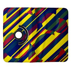 Colorful pattern Samsung Galaxy Note II Flip 360 Case