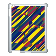 Colorful pattern Apple iPad 3/4 Case (White)