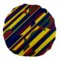 Colorful pattern Large 18  Premium Round Cushions