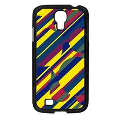 Colorful pattern Samsung Galaxy S4 I9500/ I9505 Case (Black)