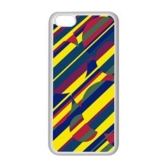 Colorful pattern Apple iPhone 5C Seamless Case (White)