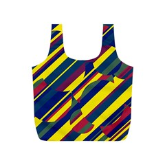 Colorful pattern Full Print Recycle Bags (S)