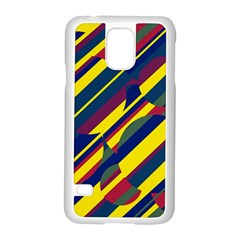 Colorful pattern Samsung Galaxy S5 Case (White)