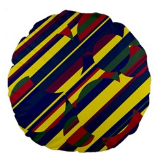 Colorful pattern Large 18  Premium Flano Round Cushions