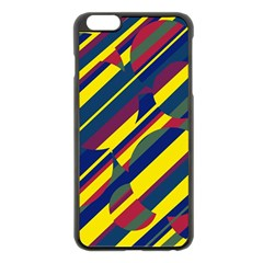 Colorful Pattern Apple Iphone 6 Plus/6s Plus Black Enamel Case