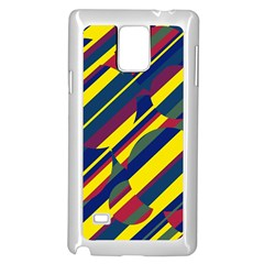 Colorful pattern Samsung Galaxy Note 4 Case (White)