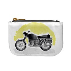 Vintage Watercolor Motorcycle Mini Coin Purses