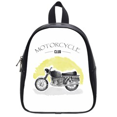 Vintage Watercolor Motorcycle School Bags (Small)