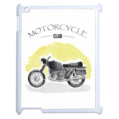 Vintage Watercolor Motorcycle Apple iPad 2 Case (White)