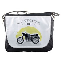 Vintage Watercolor Motorcycle Messenger Bags