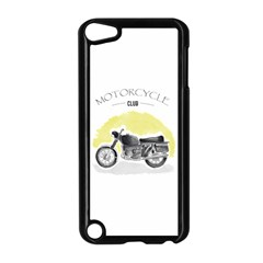 Vintage Watercolor Motorcycle Apple iPod Touch 5 Case (Black)