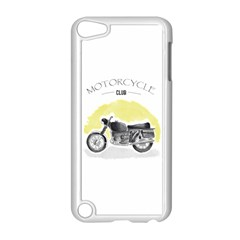 Vintage Watercolor Motorcycle Apple iPod Touch 5 Case (White)