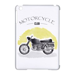 Vintage Watercolor Motorcycle Apple iPad Mini Hardshell Case (Compatible with Smart Cover)