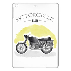 Vintage Watercolor Motorcycle iPad Air Hardshell Cases