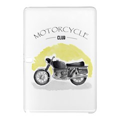 Vintage Watercolor Motorcycle Samsung Galaxy Tab Pro 12.2 Hardshell Case