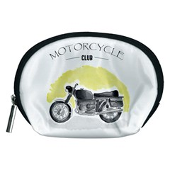 Vintage Watercolor Motorcycle Accessory Pouches (medium)