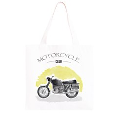 Vintage Watercolor Motorcycle Grocery Light Tote Bag