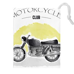 Vintage Watercolor Motorcycle Drawstring Pouches (XXL)