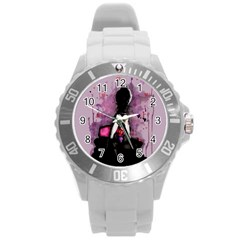 Make You Dirty Round Plastic Sport Watch (L)