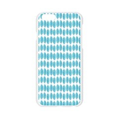 Blue Watercolour Leaf Pattern Apple Seamless iPhone 6/6S Case (Transparent)