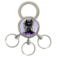 Suspension 3-Ring Key Chains