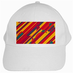 Colorful hot pattern White Cap