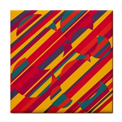 Colorful hot pattern Tile Coasters