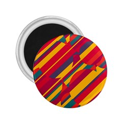 Colorful hot pattern 2.25  Magnets